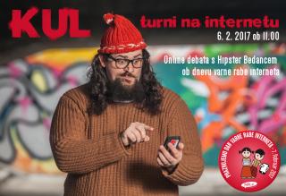 Online debata s Hipster Bedancem KULturni na internetu – 6. 2. 2017