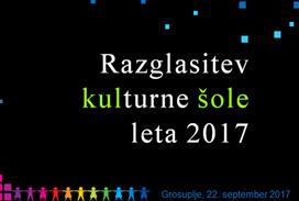 Naziv »Kulturna šola 2017« za obdobje 2017 – 2022